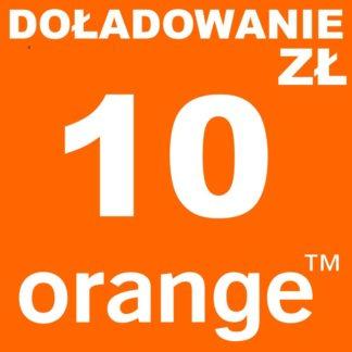 Tanie Doładowanie Orange 10 zł online
