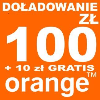 Tanie Doładowanie Orange 100 zł online