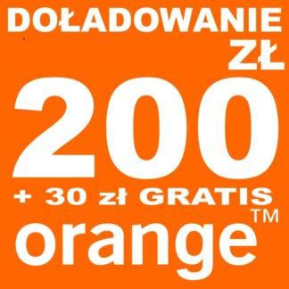 Tanie Doładowanie Orange 200 zł online