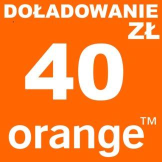 Tanie Doładowanie Orange 40 zł online