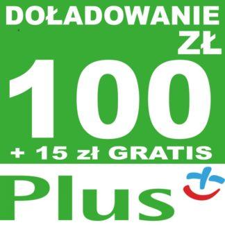 Tanie Doładowanie Plus 100 zł online