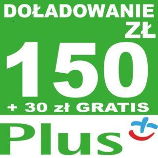Tanie Doładowanie Plus 150 zł online