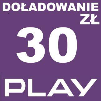 Tanie Doładowanie play 30 zł online