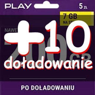 starter Play-internet 200 gb-7-plus doładowanie 10 zł